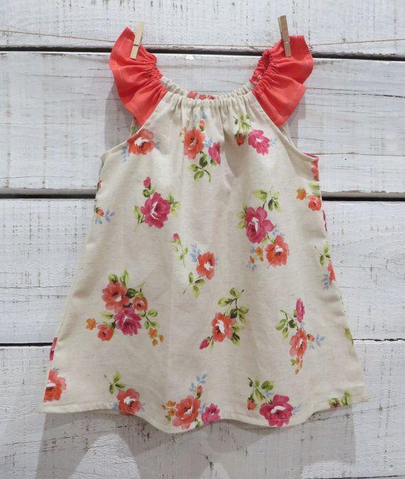Heaven Sent Handmade girl flutter sleeve dress by HeavenSent14