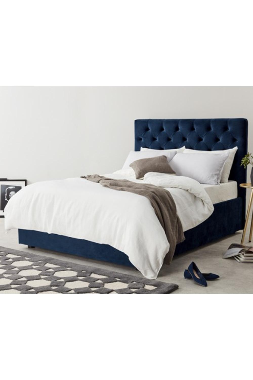 MADE royal blue velvet Upholstered beds Velvet