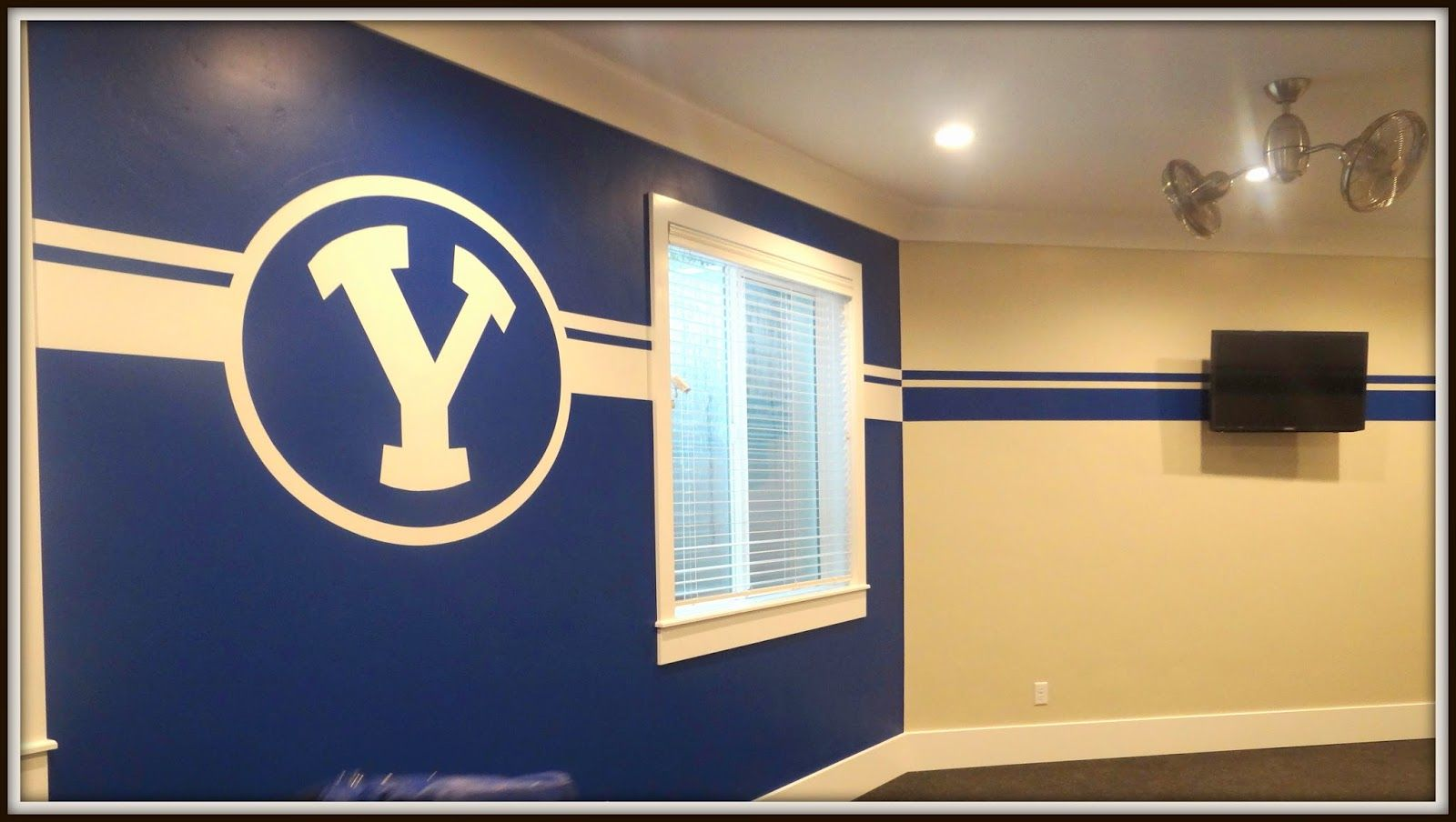 Byu Painted Wall Google Search House Yard Hunter Room Wall Painting