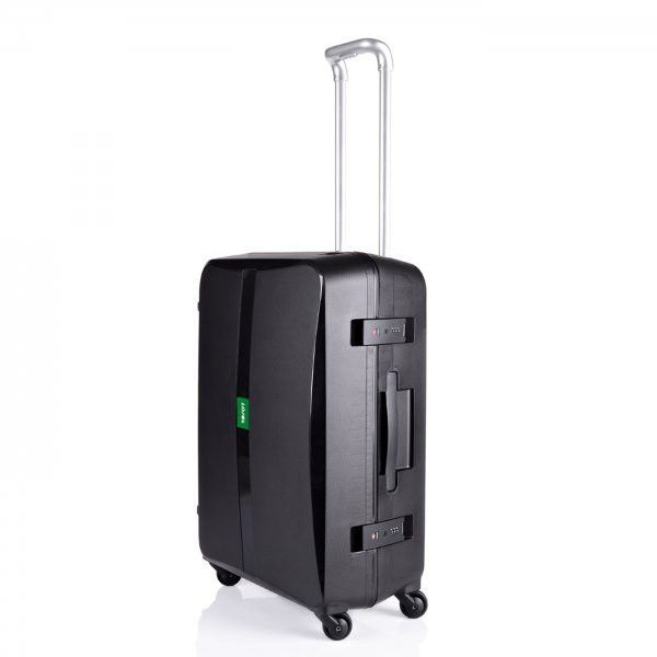 Lojel Octa 24-inch Medium Hardside Spinner Upright Suitcase - 59147-15 (Black) (25.5H x 17.2W x 10.6D)