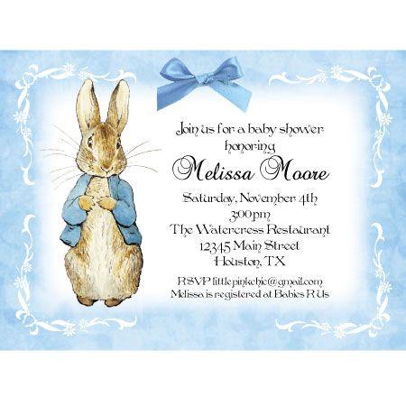 Peter Rabit Baby Shower Invitations Juanita Ooievaarstee
