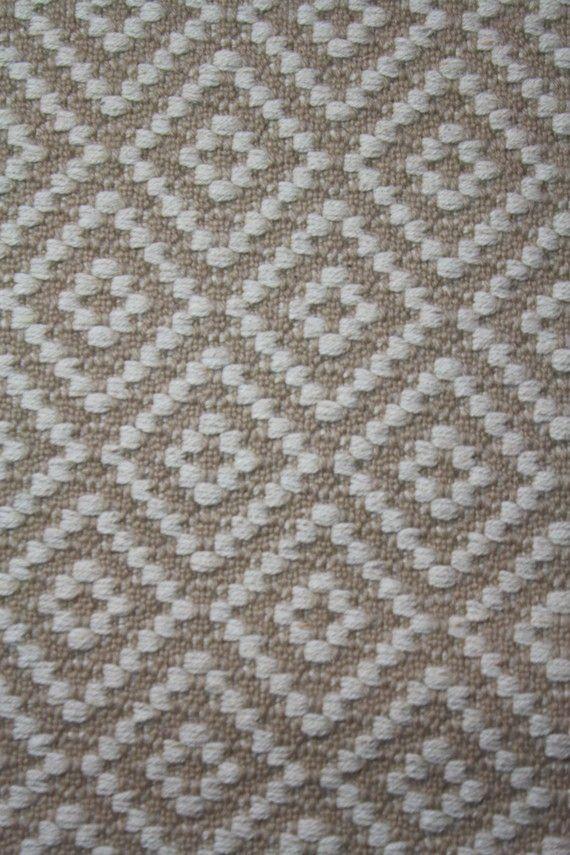 Long Handwoven Rug Wool Diamond Pattern 2 4 Quot X 14 0