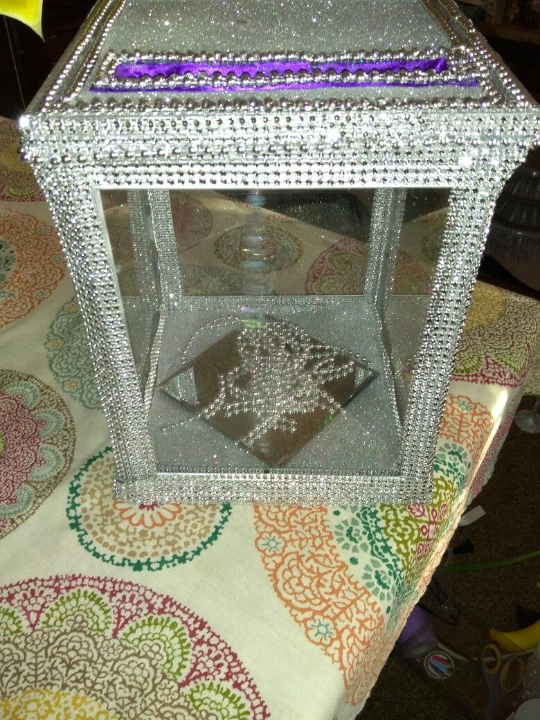 Card Box For Wedding Diy W Picture Frames My Diy Ball Bling