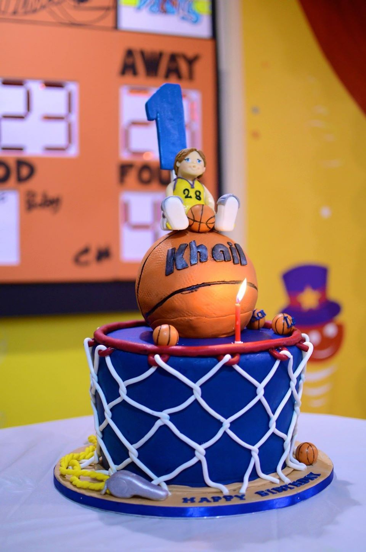 Sensational Basketball Cake Basketball Cake First Birthday Cakes Boys Funny Birthday Cards Online Benoljebrpdamsfinfo
