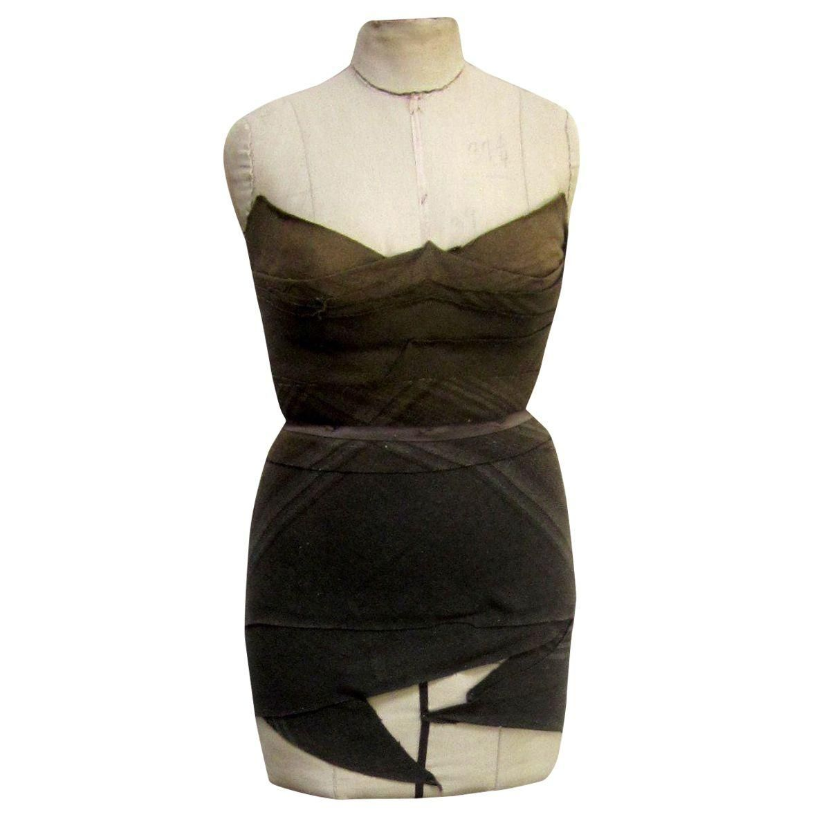 Antique corset mannequin dress form with images