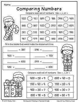 Christmas Freebie Print And Go Christmas Math Worksheets 2nd Grade Math Worksheets Halloween Math Worksheets