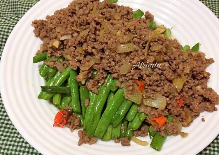 Resep Buncis Siram Daging Cincang Mudah Tumis Buncis Daging Cincang Oleh Alrinda Resep Resep Tumis Resep Makanan Sehat