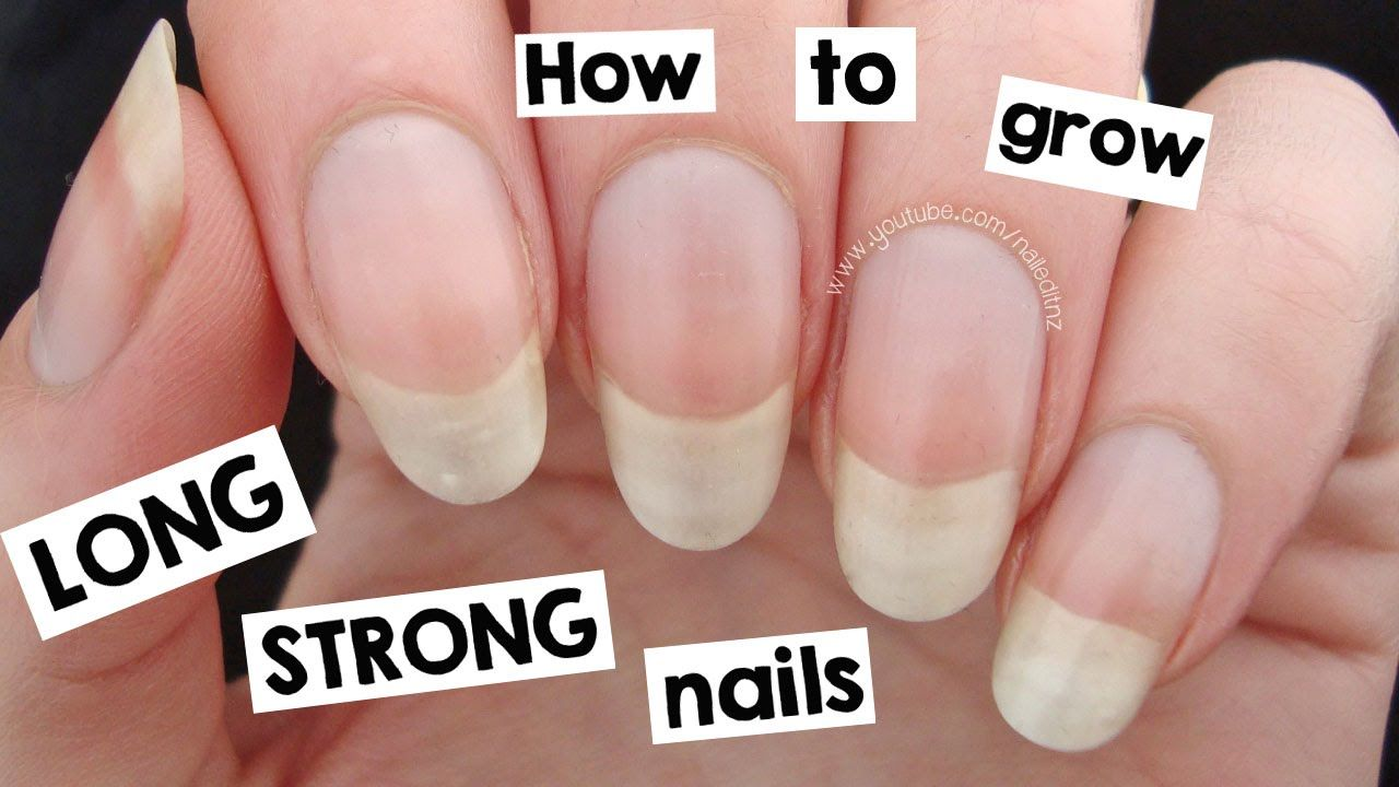 How To Grow Your Nails Long Strong Grow Nails Faster Make Nails Grow Grow Long Nails