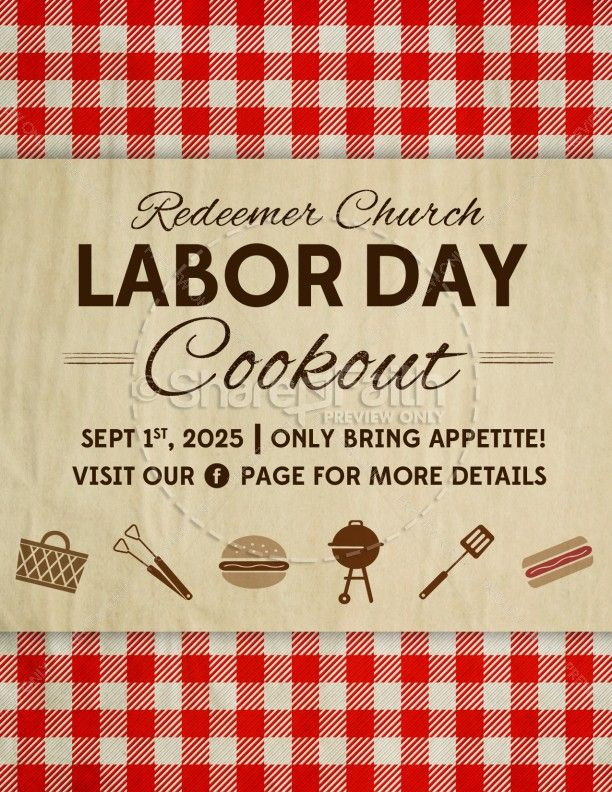 Labor Day Barbecue Flyer  Earth Day    Labour