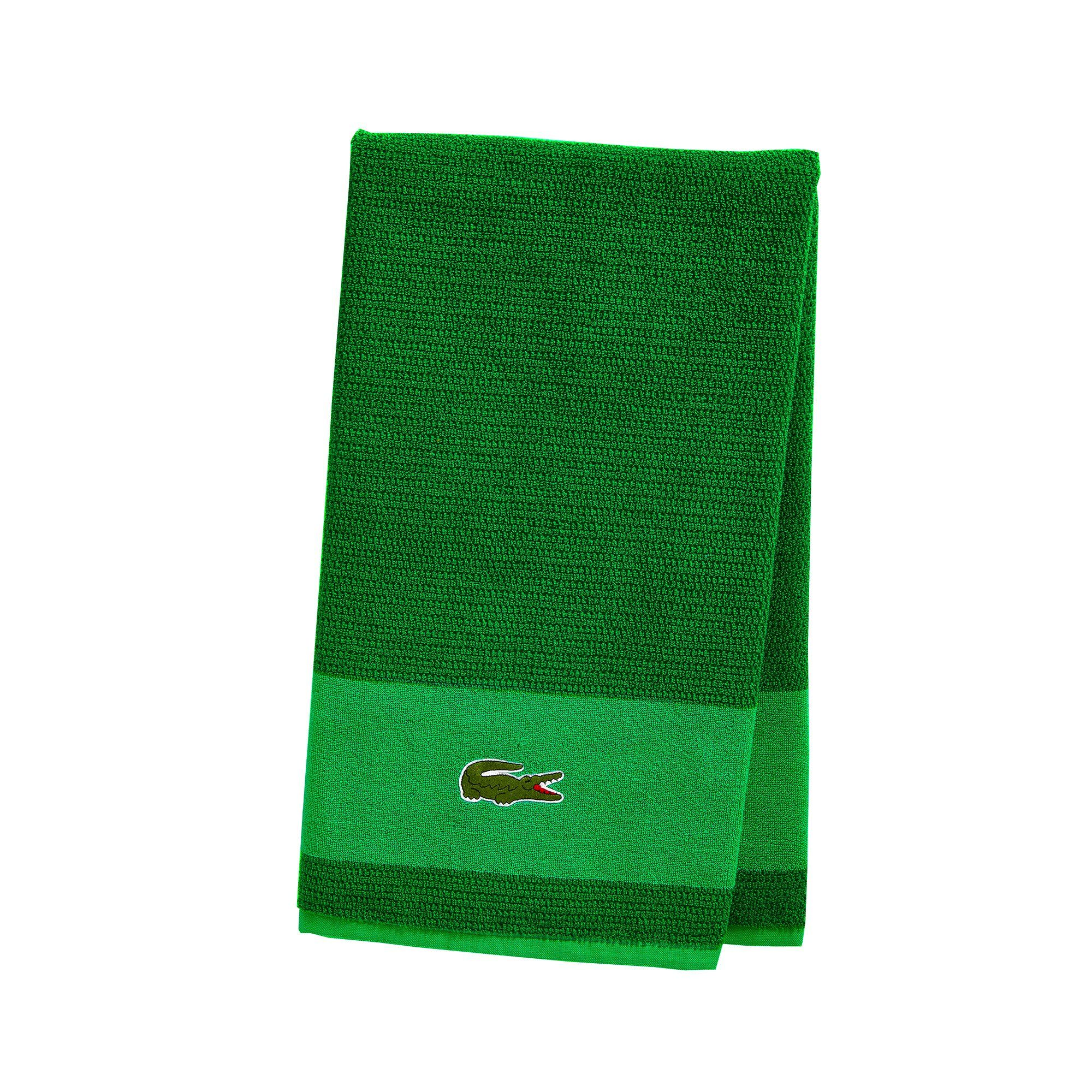 Lacoste Match Bath Towel 100 Cotton 600 Gsm 30 X52 Field Green