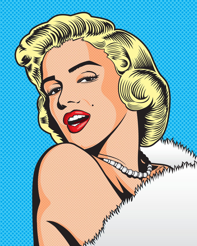 Marilyn Pop Art Poster Pop Art Marilyn Pop Art Comic Pop Art Posters
