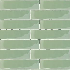 Carrelage rétro mural brillant vert 7.5 x 30 cm - AL0801038 | Parement mural, Comptoir du cerame