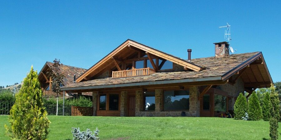 Casa rustica con madera decoracion hogar pinterest - Casas rusticas de madera ...