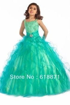 green dresses for 9 year old
