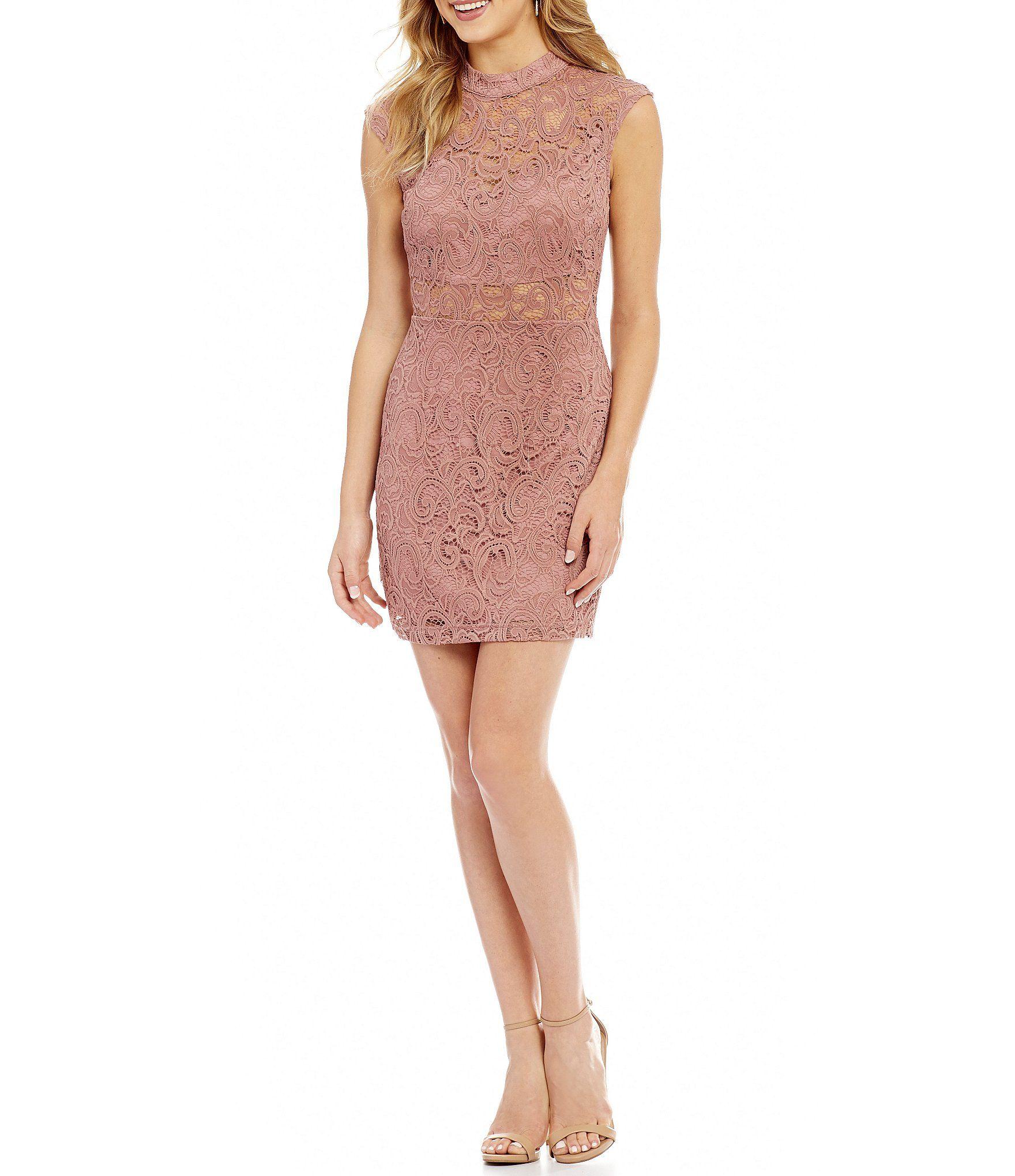 Shop for b darlin mock neck illusion lace sheath dress at dillards