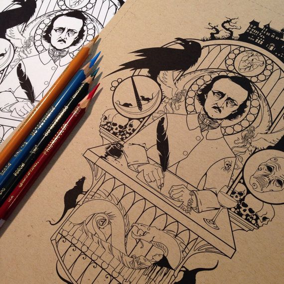 edgar allan poe coloring pages - photo#12