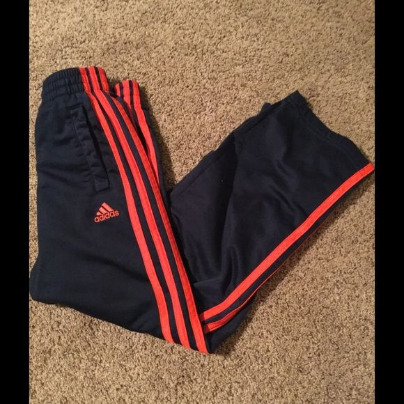 Boys Adidas Pants Boys size 7x. Navy blue with red stripes. Adidas Pants  Track