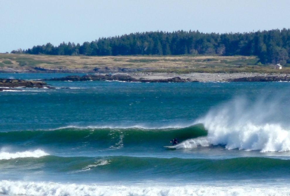 More Classic Maine Background Richmond Island In The Background Scarborough Beach Surf Camp Photo
