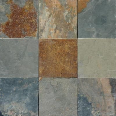 Flooring For Entry Ms International Multi Color 12 In X 12 In Gauged Slate Floor And Wall Tile 5 Sq Ft Case Shdcalgld Slate Flooring Slate Tile Flooring