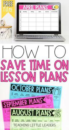 Teacher Timesaver: How to Make Lesson Planning Easier (plus a freebie) #teacherplannerfree