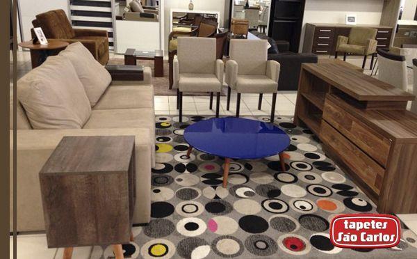 Lindo tapete Round, desenho Verão. Uma edição Limitada da Tapetes São Carlos. Ambiente criado pela loja Única Design, em Natal/RN. #Round #HomeDecor #TapetesSaoCarlos