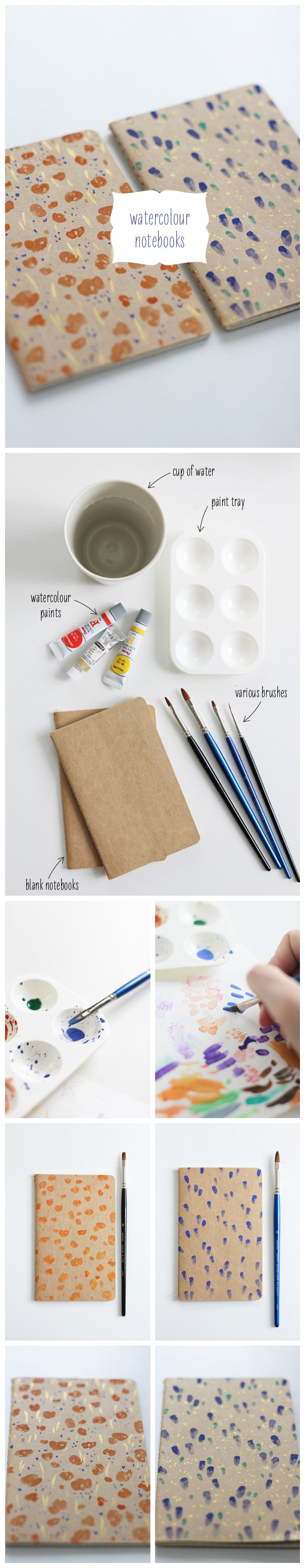Watercolor book covers - Book Covers To Buy Their Own Simple Kraft Paper Cover Of The Book And Watercolor