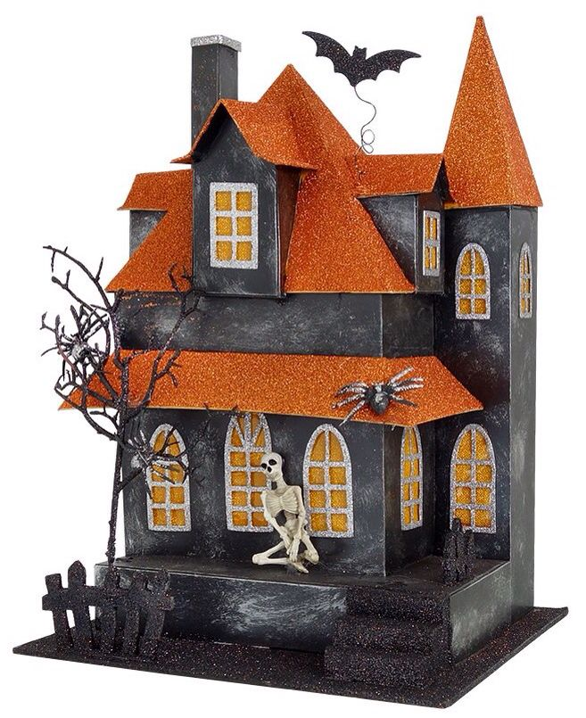 Pin By Sgirl On Holiday Halloween Putz Houses Vintage Halloween Decorations Halloween Decorations Halloween Projects
