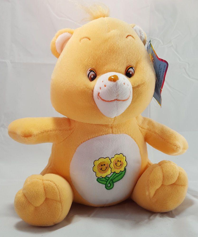 "Care Bears Plush Friend Bear with Flowers Jumbo 18/"" Sitting 2003"