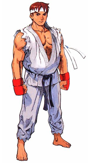 ryu street fighter alpha art