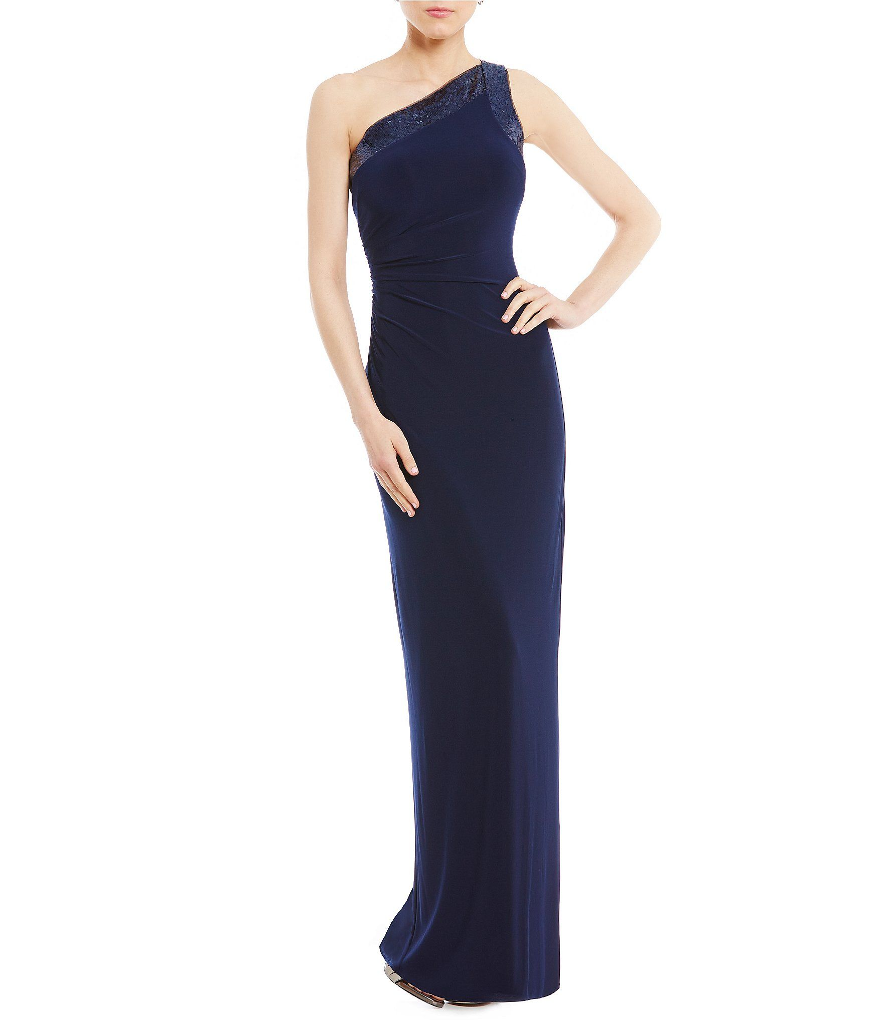 Vince Camuto One Shoulder Sequin Gown #Dillards | MOB style ...