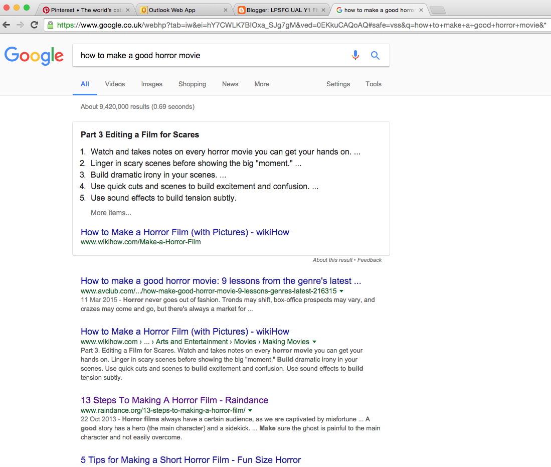 I have looked on the internet for secondary research so that