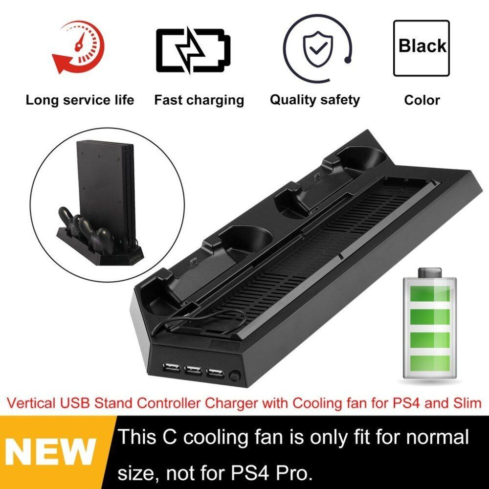 Vertical Usb Stand Controller Charger With Cooling Fan For