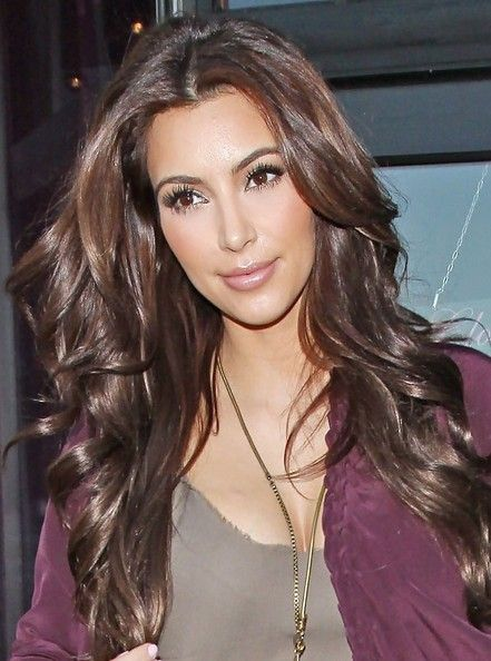 Kim Kardashian Long Curls Makeup Pinterest Hair Styles Hair