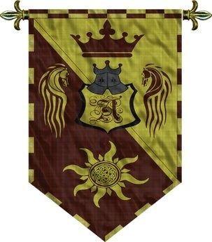 medieval flags and banners