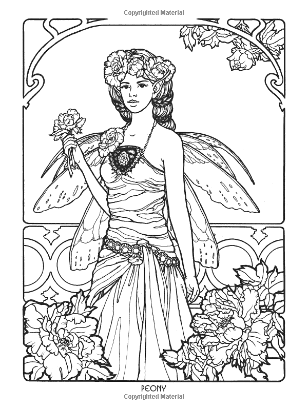 coloring pages of mystical angels - photo#15