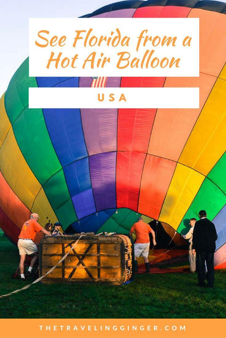 A HOT AIR BALLOON RIDE IN MIAMI, FLORIDA Hot air balloon