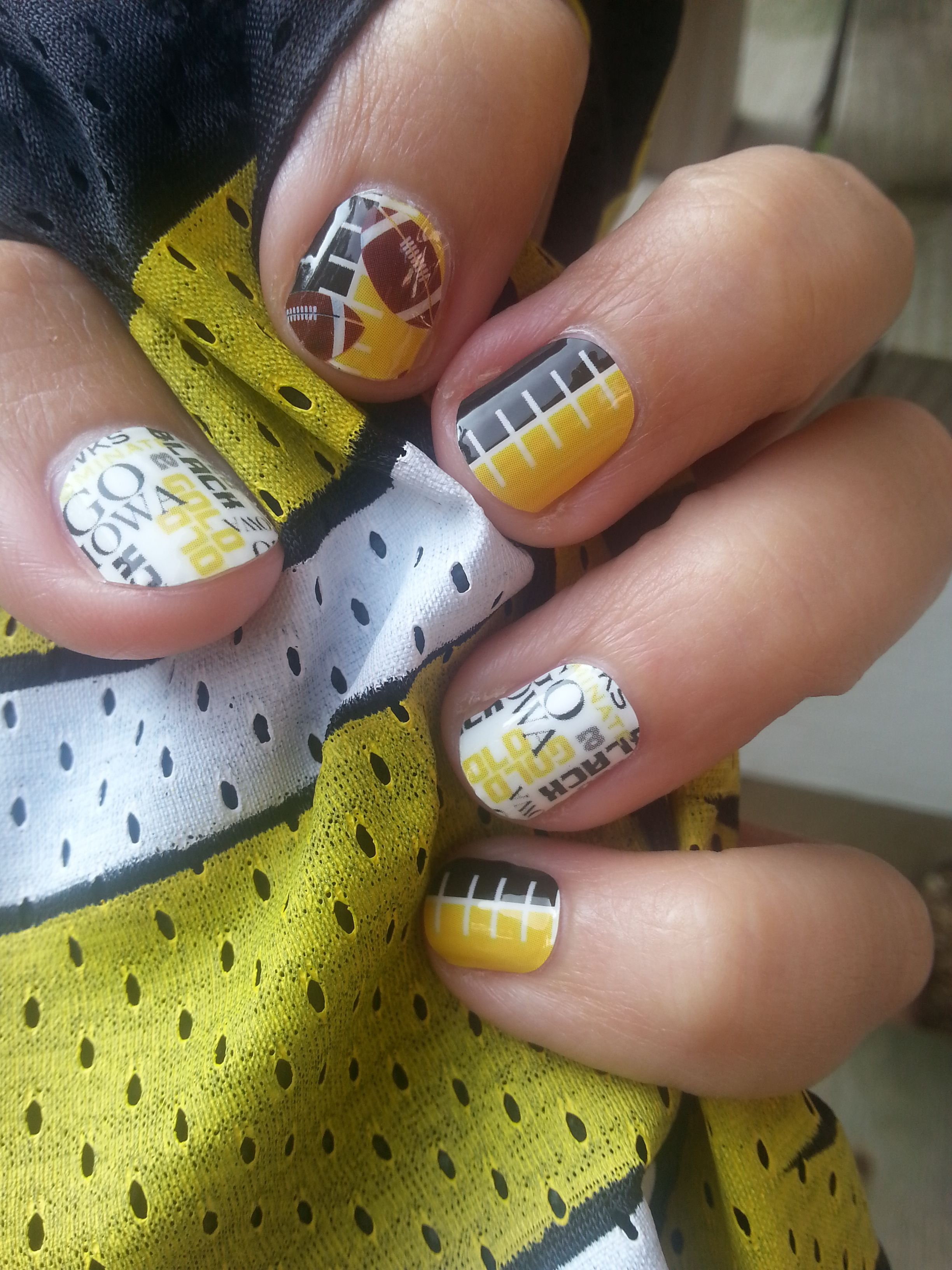 Custom made University of Iowa nail wraps! Go Iowa! Contact me for ...
