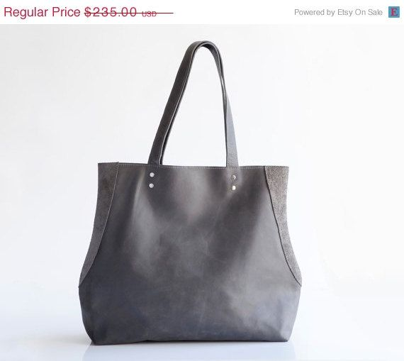 4d25218ea6 Distressed Gray leather tote bag  Everyday bag  Leather handbag   By  MaykoBags   On SALE  249