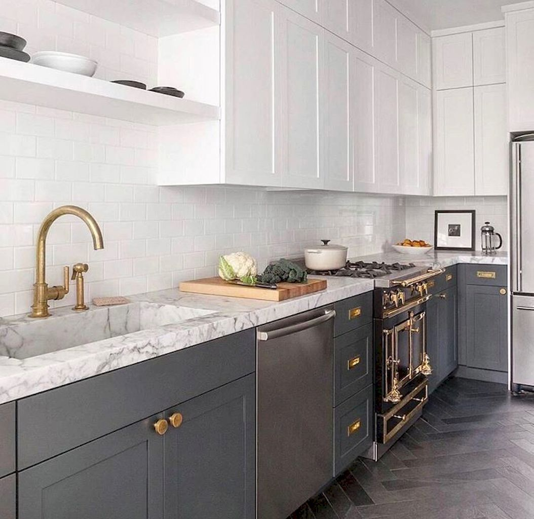 Gray White Kitchens Choosing Cabinet Colors 2019 | New ...