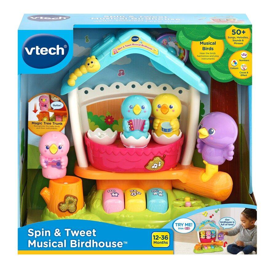 VTech Spin & Tweet Musical Birdhouse, Pink Interactive