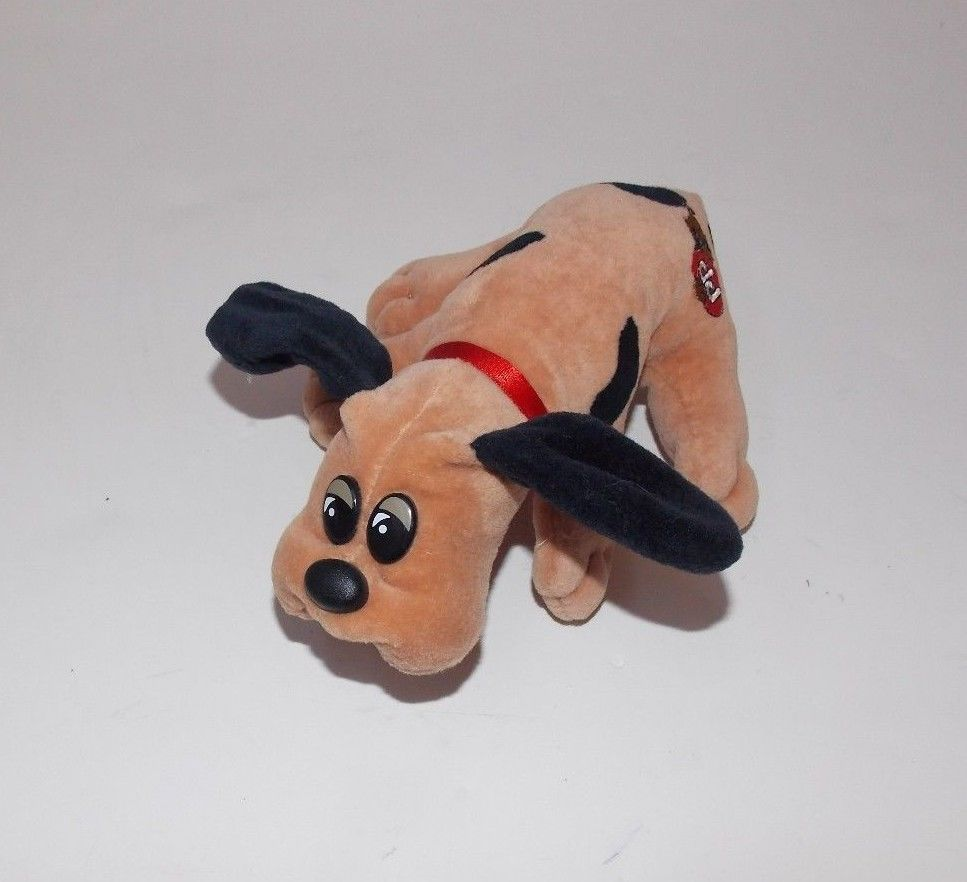 Vintage Tonka Pound Puppies Brown Black Spots Plush Stuffed Animal