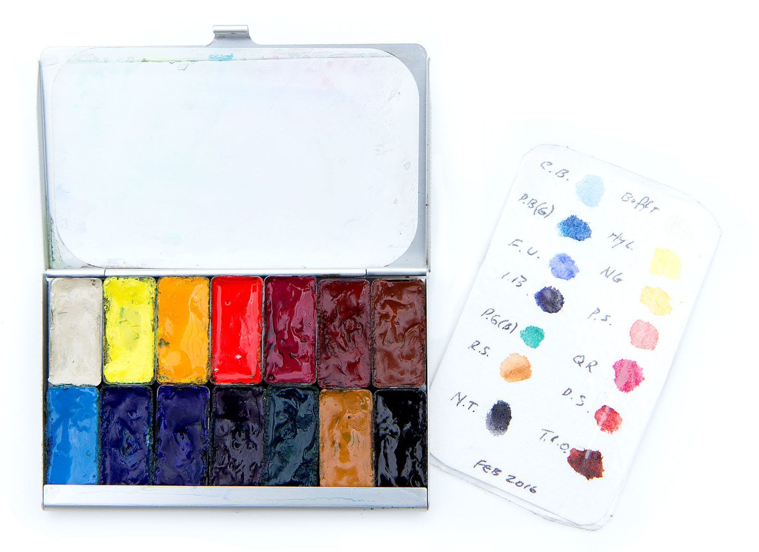 Compact Travel Palette Using Daniel Smith Watercolors Palette 2 0