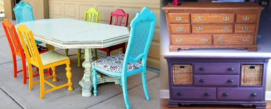 ideas para restaurar muebles antiguos Pinterest