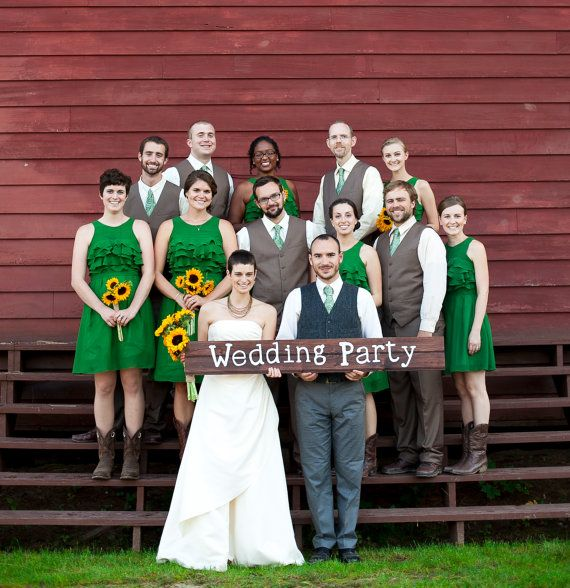 JOHN DEERE WEDDING.love the wedding party green ~ color dresses ...