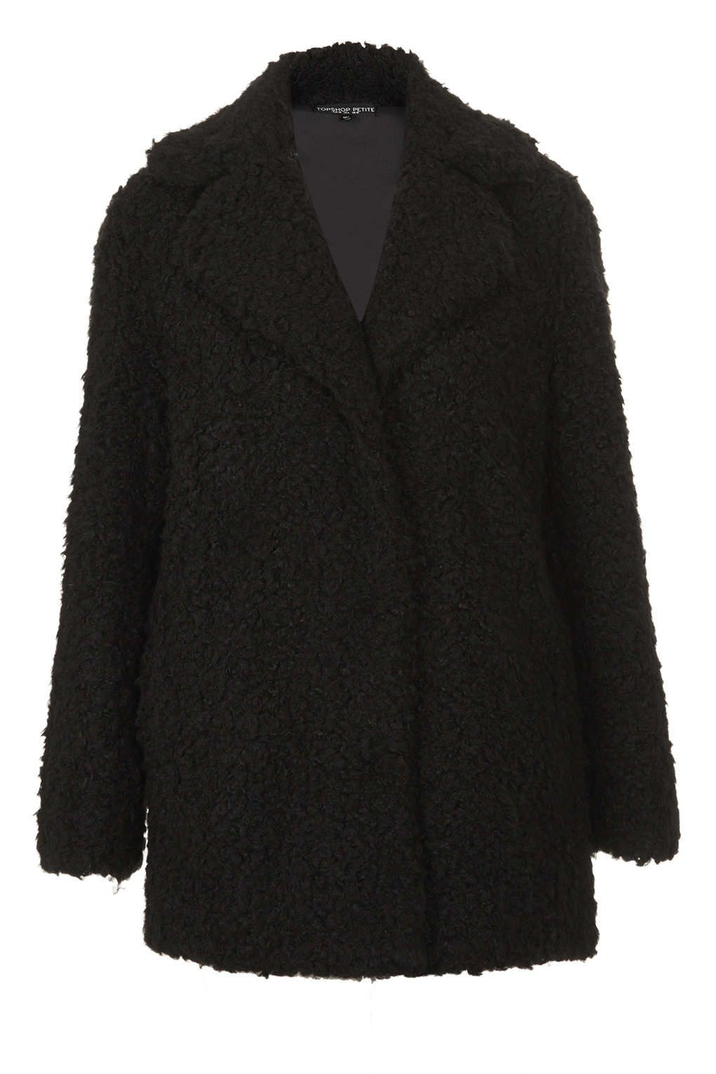 reliable quality best sneakers good quality Petite Teddy Fur Pea Coat - New In This Week - New In - Topshop ...