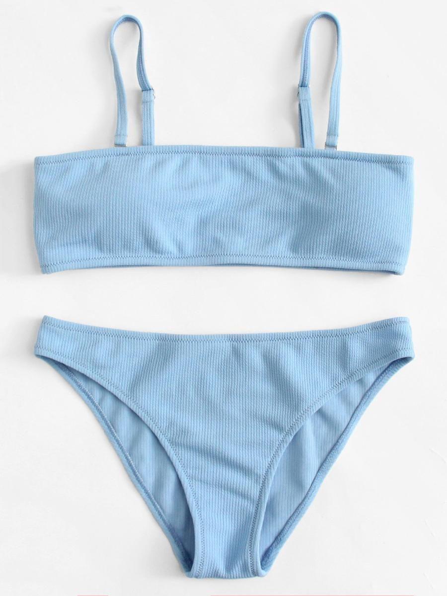 ca1f176cca Adjustable Straps Bikini Set -SheIn(Sheinside)   beachy keen in 2019 ...