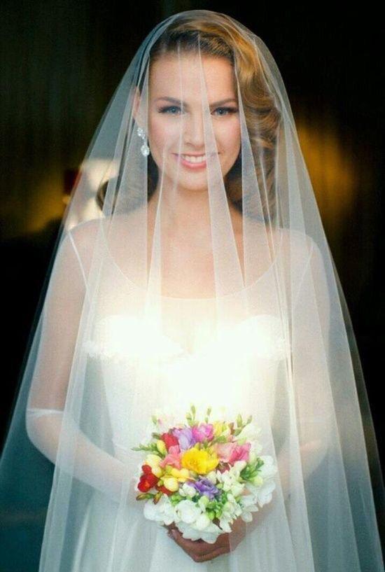 Soft Drop Wedding Veil Wedding Vintage Wedding Hair Wedding Veils