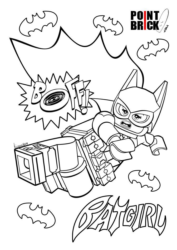 Disegni da Colorare LEGO The LEGO Batman Movie Batgirl