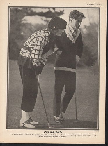 well styled Chaplin for golf