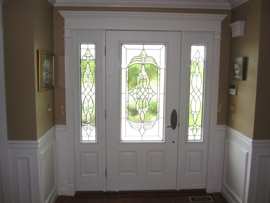 Fiberglass doors two side panels royal windows and doors for Side doors for houses